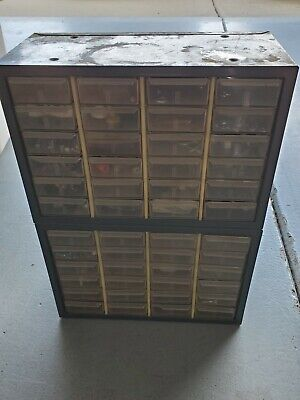 Vintage Akron-mils Large 48 Drawer Metal Storage Cabinet 20 X 14 X 8