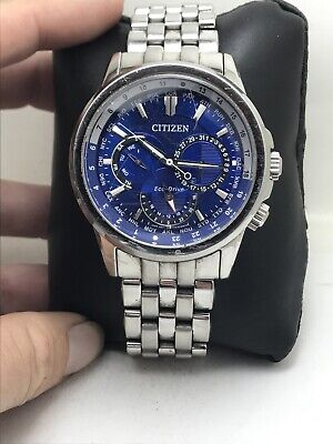 Citizen Eco-Drive Calendrier Blue Dial Stainless Steel Men's Watch BU2021-51L-22