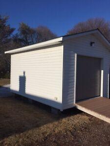Wired 16x12 Garage w/ 8 Foot Door