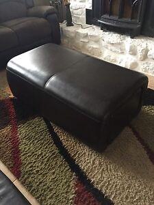 Table de salon en cuir (pouf)