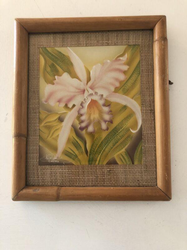 Hale Pua Hawaii signed Orchid print