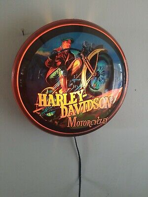 2004 harley Davidson motorcycle bike light up bubble sign garage man cave rare