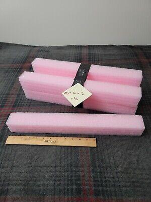 6 X Pink Polyethylene Foam Planks 18 X 2 X 2