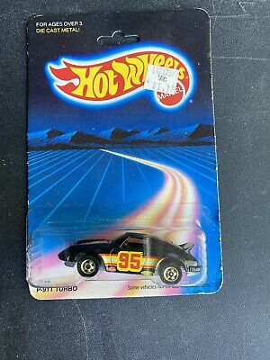 Vintage Hot Wheels Porsche P-911 Turbo #7648 1981 Black 1:64