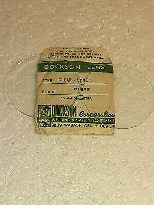 2 Vintage Dockson Welding Lenses Clear 50 Mm