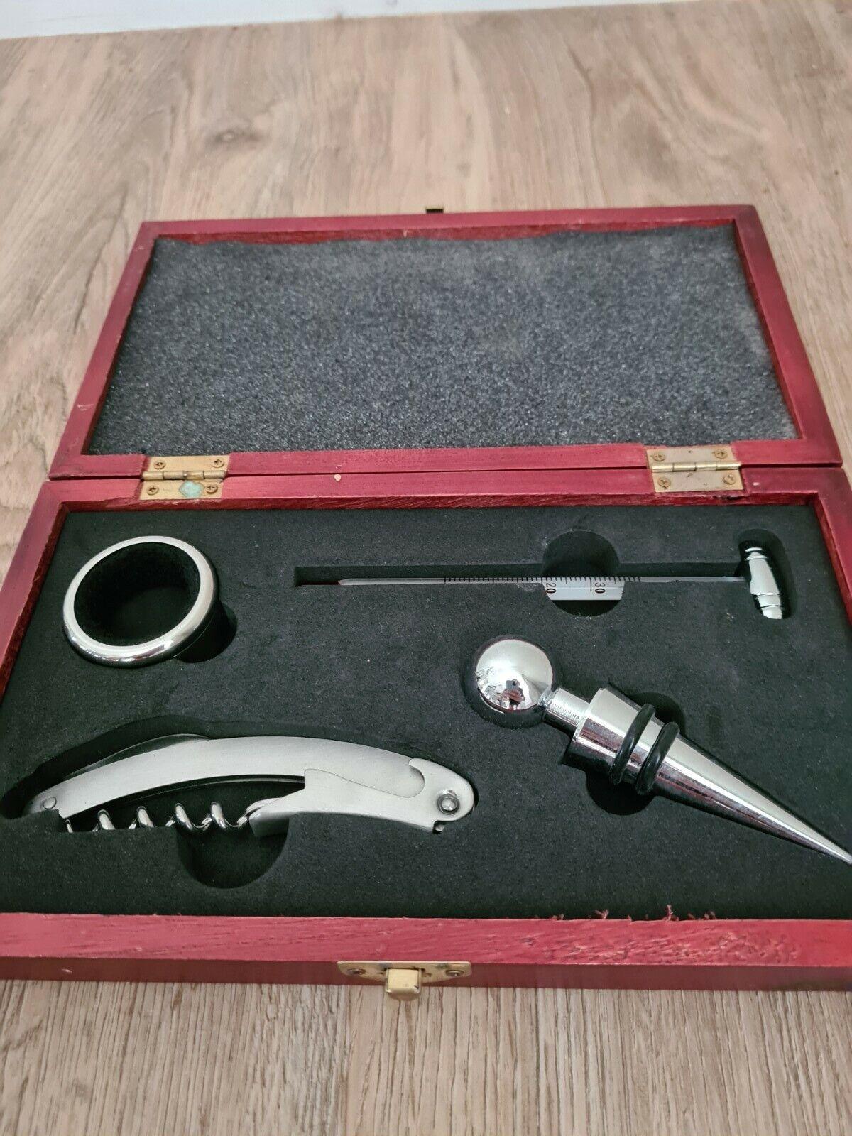 Coffret sommelier - kit oenologie - coffret en bois