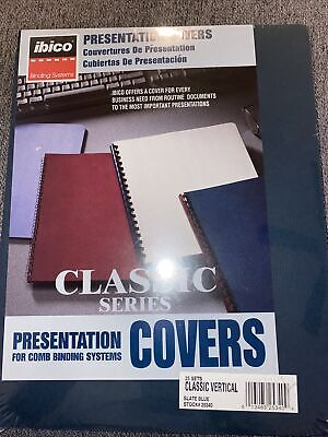 Presentation Covers For Comb Binding Systems Ibico 25 Set Vertical Slate Blue