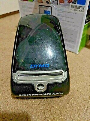Dymo Labelwriter 450 Turbo Label Thermal Printer 1750283 Black Barcode Read