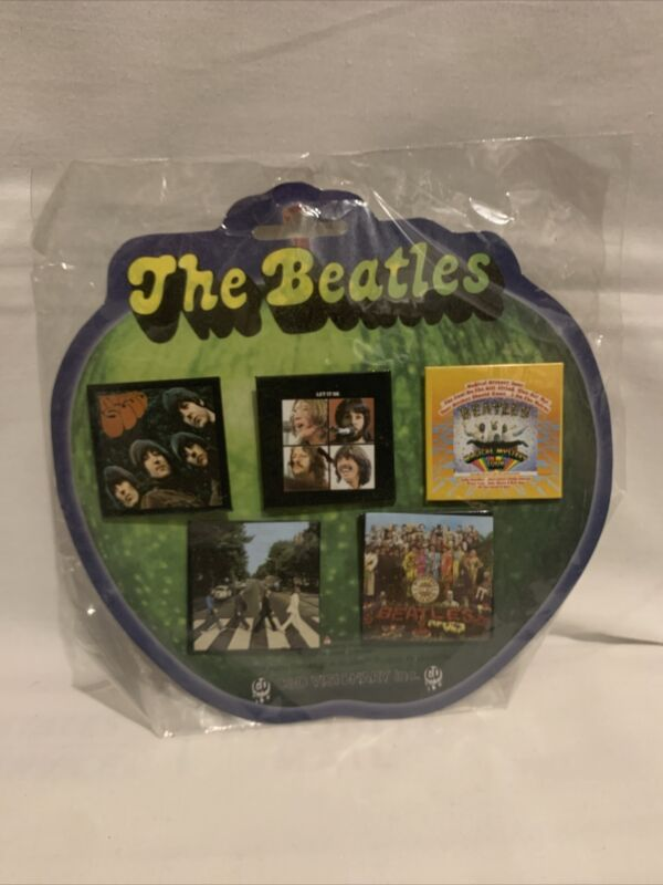 The Beatles 5 Button Pinback Set Album Covers Officially Licensed (2004) NEW!
