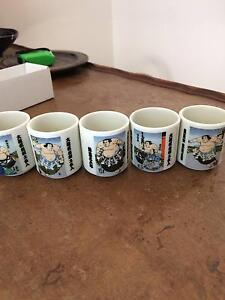 Japanese saki cup x5 for sale $25 Cheltenham Hornsby Area Preview