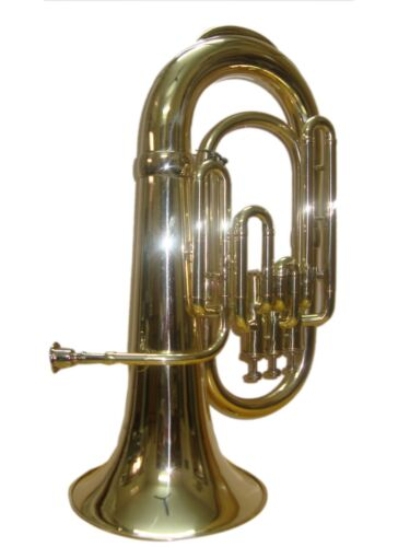 NEW Brass GOLDEN Finish Bb PITCH Euphonium With Free Hard Case+MOUTHPIECE