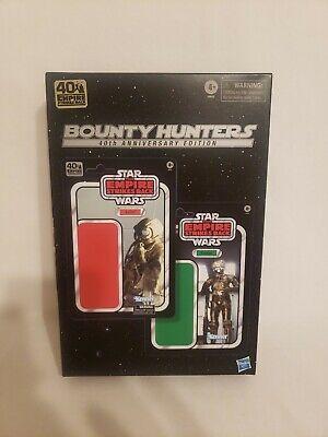 "Star Wars Black Series 6"" Bounty Hunters 4-LOM Zuckuss 40th Anniversary Amazon"