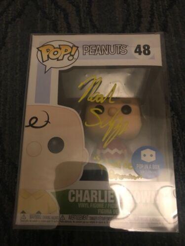 """Funko Pop Noah Schnapp """"Charlie Brown"""" Peanuts Autograph Beckett COA"""