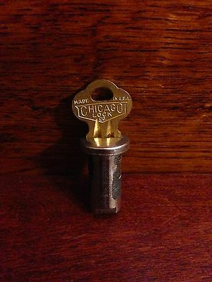Lock And Key For Vintage Antique Gumball Candy Vending Machine With 14 Inch Rod