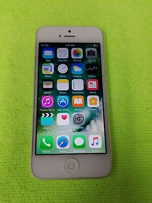 Apple iPhone 5 16GB Silver A1428 (Unlocked) Great Phone Discounted! KW590
