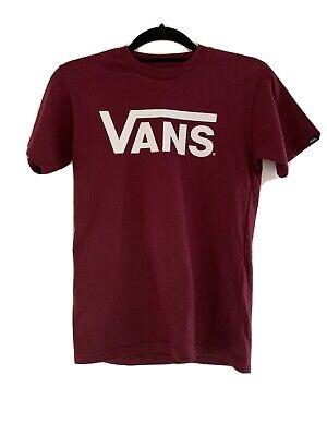 Vans X Small Classic Fit T Shirt Maroon