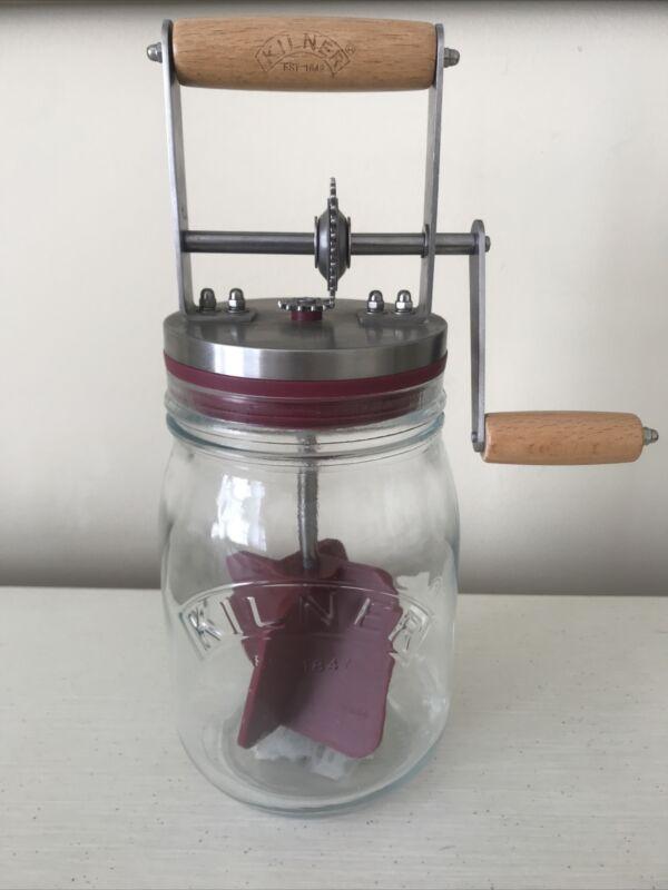 Kilner Butter Churn - Complete With Jar - Manual Hand Crank Churner WORKS GREAT