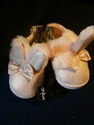 Baby/Toddler Girls Bunny Slippers Sz.5/6-7/8-11/12 Pink Just in time for Easter!