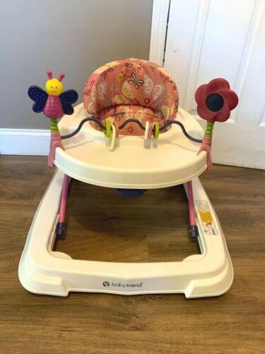 BabyTrend Baby Girl Pink Flowers Adjustable Smaller Size Walker GREAT FOR APTS!