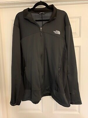 The North Face Mens Black Wind Stopper Zip Up Jacket XXL 2XL