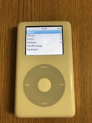 Refurbished 60gb White Apple iPod Photo 4th Gen 60 GB A1099 Classic MP3 Player