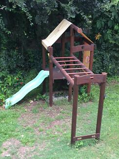 Peppertown Kids timber Fort - Disassembled already