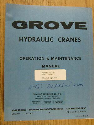 Grove Crane Rt 62s Operation Maintenance Manual  Oem