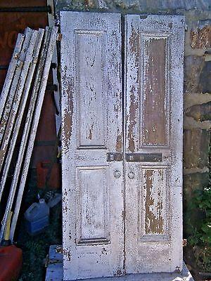 "Antique Wood House Shutter Door Strap Hinges 63"" X 29"""