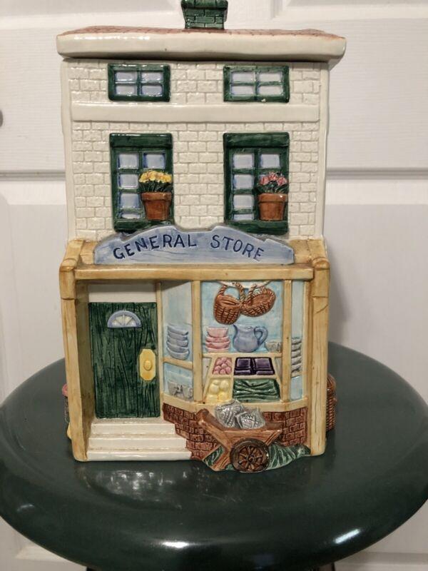 Fitz and Floyd Cookie Jar  General Store  Omnibus 1995