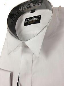 hommes blanc riche en coton chemise col casse - Chemise Col Cass Mariage