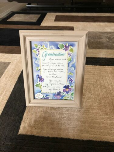 Innovative Gifts Wooden Frame Grandmother Poem Music Box Wind Beneath My Wings