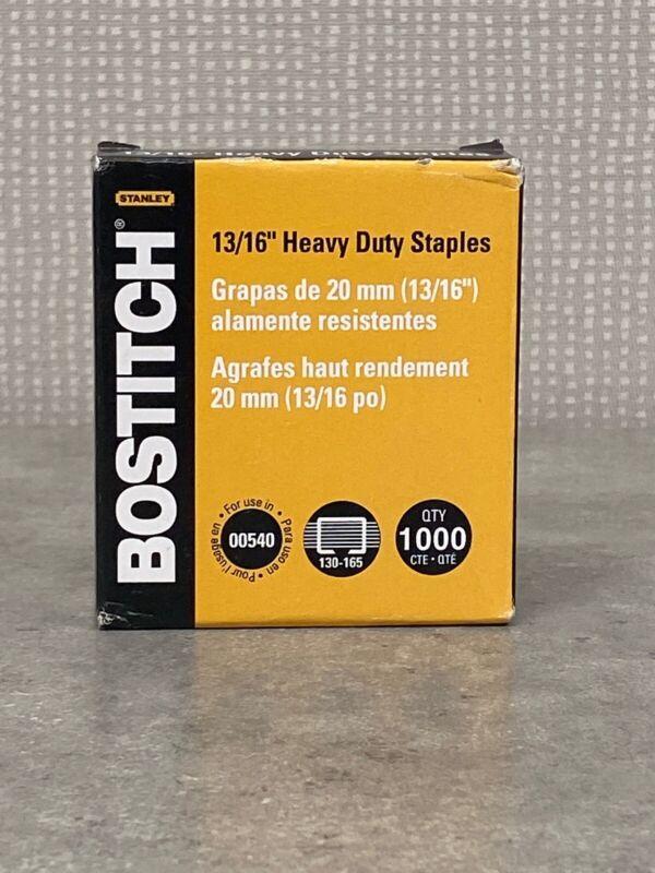 "Bostitch Heavy-Duty Staples Use In 00540 1/2""W 13/16"" L 1000/BX SB351316HC1M"