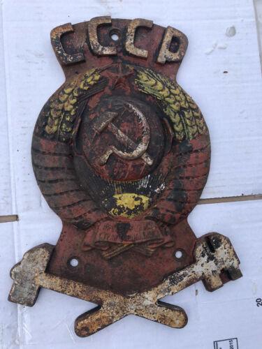 Chernobyl PRIPYAT metalic gerb emblem from locomotive YANOV Station
