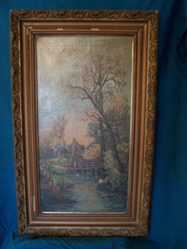 Hand Painted Oil Painting from the early 1900