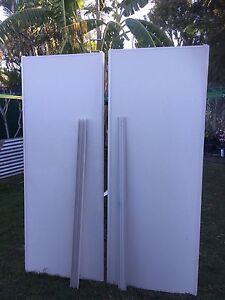 2 X wardrobe cupboard sliding doors 2130x810 with tracks Sunnybank Hills Brisbane South West Preview