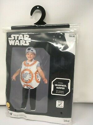 Star Wars Halloween Costumes For Kids (Star Wars BB-8 Child Halloween Costume For 3-4 Years Toddler)
