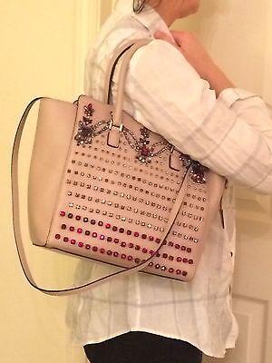 Valentino Crystals Jeweled Nude Pink Bag