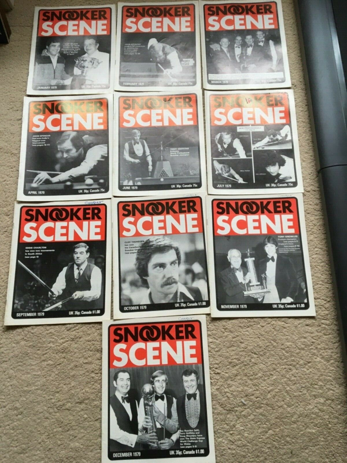 Rare 1979 Snooker Scene Magazine,  Good Condition. 10 issues