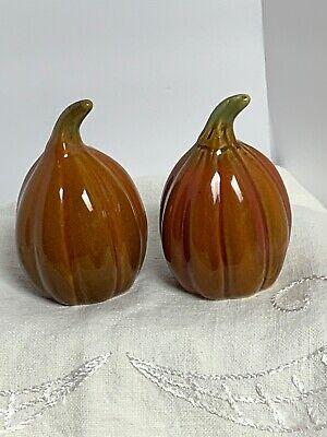 """3"""" Pumpkin Gourd Salt & Pepper Shakers Thanksgiving Autumn Fall Halloween"""