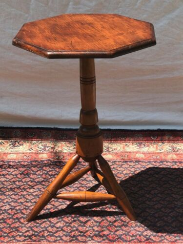 IMPORTANT WILLIAM & MARY EARLY 18TH CENTURY ANTIQUE CANDLESTAND ~~ RARE