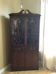 Corner china/display cabinet - excellent condition!
