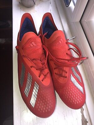 Adidas X 18.1 SG Football Boots UK 10 (red and blue colourway)