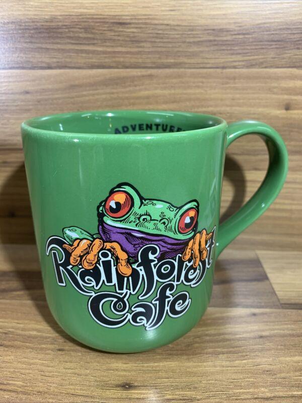 "Rainforest Cafe Cha Cha Vintage 1999 Large Coffee Mug Cup Green 4.25"""
