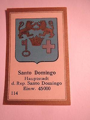 Santo Domingo / Sammelbild Abdulla Wappen