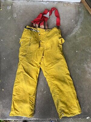 Firecraft Firefighter Turnout Gear Bunker Padded Pants Size 40 X 32 Suspenders