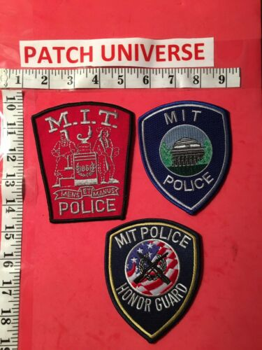 LOT OF 3 DIFF MASSACHUSETTS INSTITUTE OF TECHNOLOGY SHOULDER PATCHES  N100