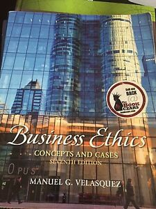 Business Ethics - Concepts and Cases