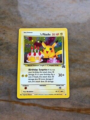 Happy Birthday Pikachu 24 Black Star Holo Ultra Rare Promo Pokemon Card NM WofTC