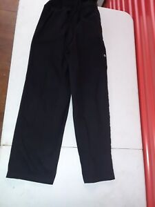 fa5c1b75959 MENS medium CHEF WORKS BLACK UNIFORM PANTS KITCHEN COOK TROUSERS