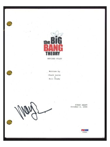 Mayim Bailik Signed Autographed THE BIG BANG THEORY Pilot Script PSA/DNA COA